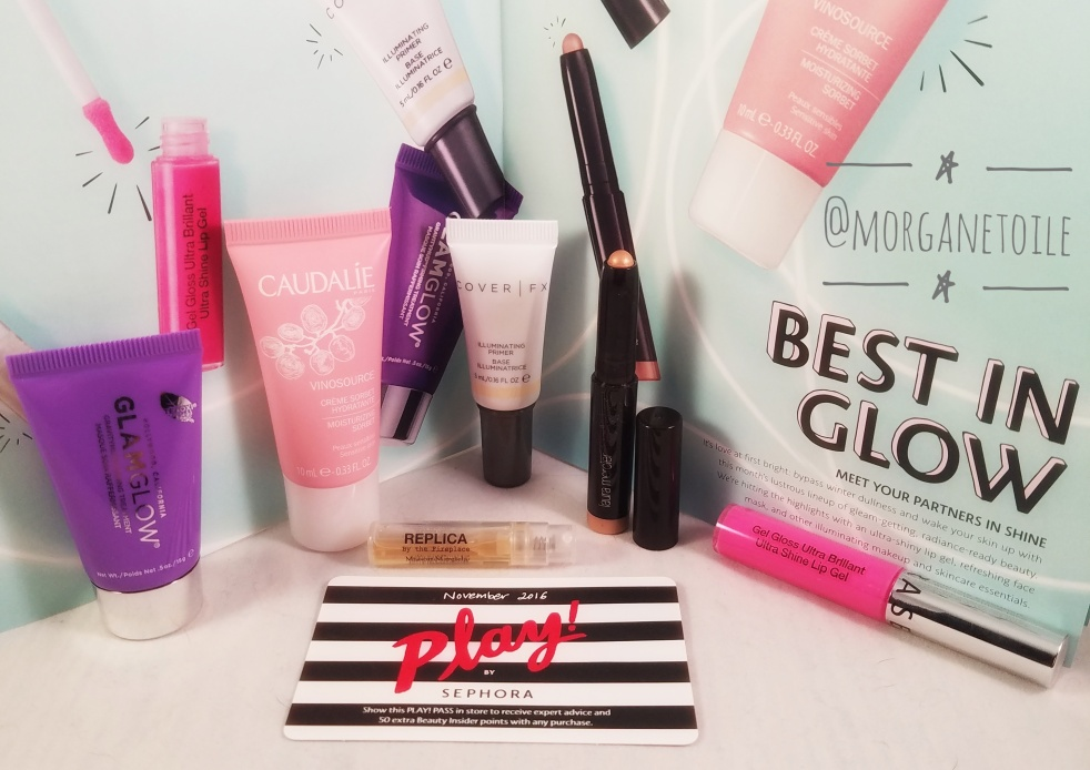 Play by Sephora, November Box, Best in Glow, Illuminating Products, Subscription Box