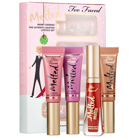 Too Faced Merry Kissmas The Ultimate Liquified Lipstick Set, Too Faced Holiday 2016, Too Faced Melted Liquified Lipsticks